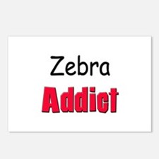 Zebra Addict Postcards (Package of 8)