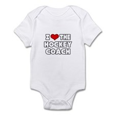 """I Love The Hockey Coach"" Infant Bodysuit"
