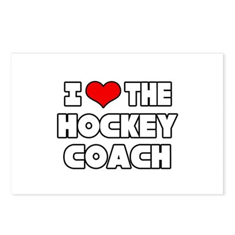 """""""I Love The Hockey Coach"""" Postcards (Package of 8)"""