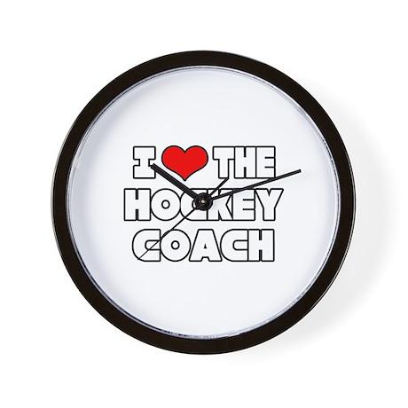 """""""I Love The Hockey Coach"""" Wall Clock"""