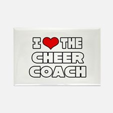 """""""I Love The Cheer Coach"""" Rectangle Magnet (10 pack"""