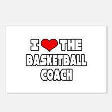 """I Love The Basketball Coach"" Postcards (Package o"