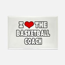 """""""I Love The Basketball Coach"""" Rectangle Magnet"""