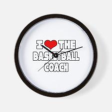 """I Love The Basketball Coach"" Wall Clock"