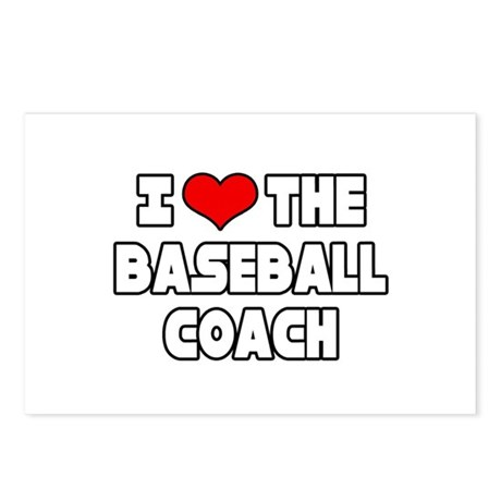 """I Love The Baseball Coach"" Postcards (Package of"