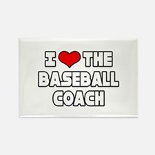 """I Love The Baseball Coach"" Rectangle Magnet"