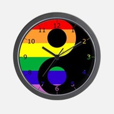 GLBT Yin Yang Wall Clock
