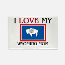 I Love My Wyoming Mom Rectangle Magnet