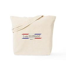 I Vote Elephant Tote Bag