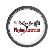 Rather Be Playing Accordion Wall Clock