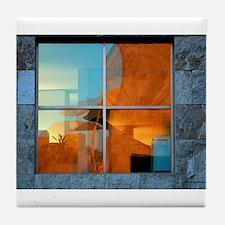 Cute Entertainment building Tile Coaster
