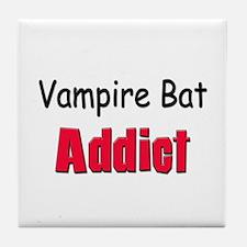 Vampire Bat Addict Tile Coaster