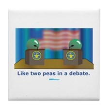 in a Debate Tile Coaster