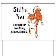 Shiba 300 B.C. Yard Sign