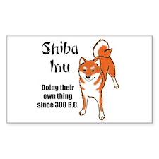 Shiba 300 B.C. Rectangle Decal