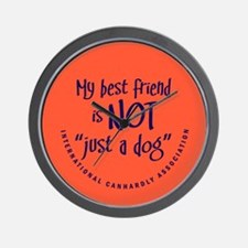 """Not """"just a dog"""" Wall Clock"""