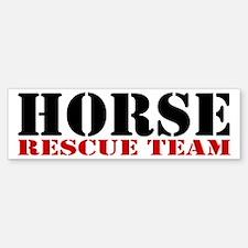 Horse Rescue Team Bumper Bumper Bumper Sticker