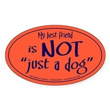 "Not ""just a dog"" Oval Decal"