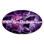 SpinTheMusic.Com Oval Sticker (50 pk)