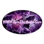 SpinTheMusic.Com Oval Sticker (10 pk)