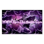 SpinTheMusic.Com Rectangle Sticker