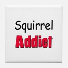 Squirrel Addict Tile Coaster