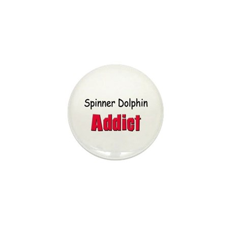Spinner Dolphin Addict Mini Button (10 pack)