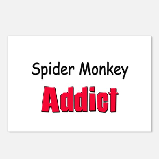 Spider Monkey Addict Postcards (Package of 8)