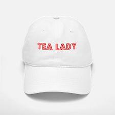 Retro Tea lady (Red) Baseball Baseball Cap