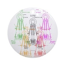 Edison light bulb Ornament (Round)