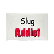 Slug Addict Rectangle Magnet