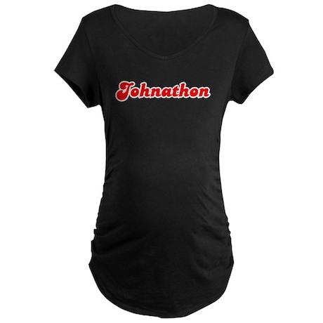 Retro Johnathon (Red) Maternity Dark T-Shirt