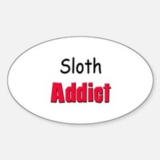 Sloth Addict Oval Decal