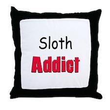 Sloth Addict Throw Pillow