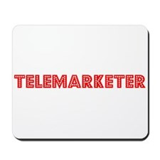 Retro Telemarketer (Red) Mousepad