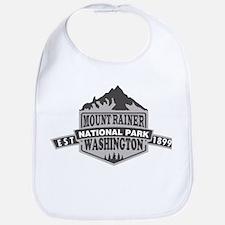 Mount Rainier - Washington Baby Bib