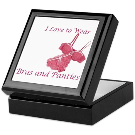 Love to Wear Bra and Panties Keepsake Box