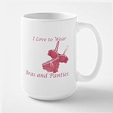 Love to Wear Bra and Panties Large Mug