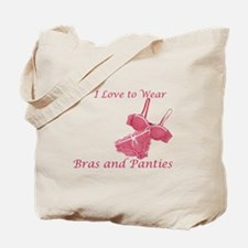 Love to Wear Bra and Panties Tote Bag