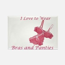 Love to Wear Bra and Panties Rectangle Magnet
