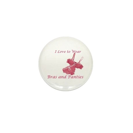 Love to Wear Bra and Panties Mini Button (10 pack)