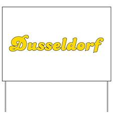 Retro Dusseldorf (Gold) Yard Sign