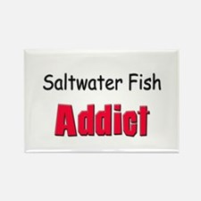 Saltwater Fish Addict Rectangle Magnet