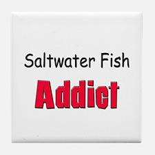 Saltwater Fish Addict Tile Coaster