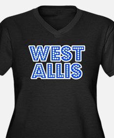 Retro West Allis (Blue) Women's Plus Size V-Neck D
