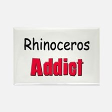 Rhinoceros Addict Rectangle Magnet