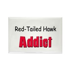 Red-Tailed Hawk Addict Rectangle Magnet