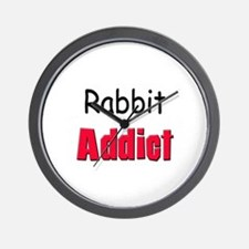 Rabbit Addict Wall Clock