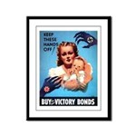 Buy War Bonds Framed Panel Print