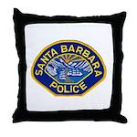 Santa Barbara PD Throw Pillow